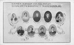 Sosialidemokraattisen puolueen naiskansanedustajat vuonna 1907.